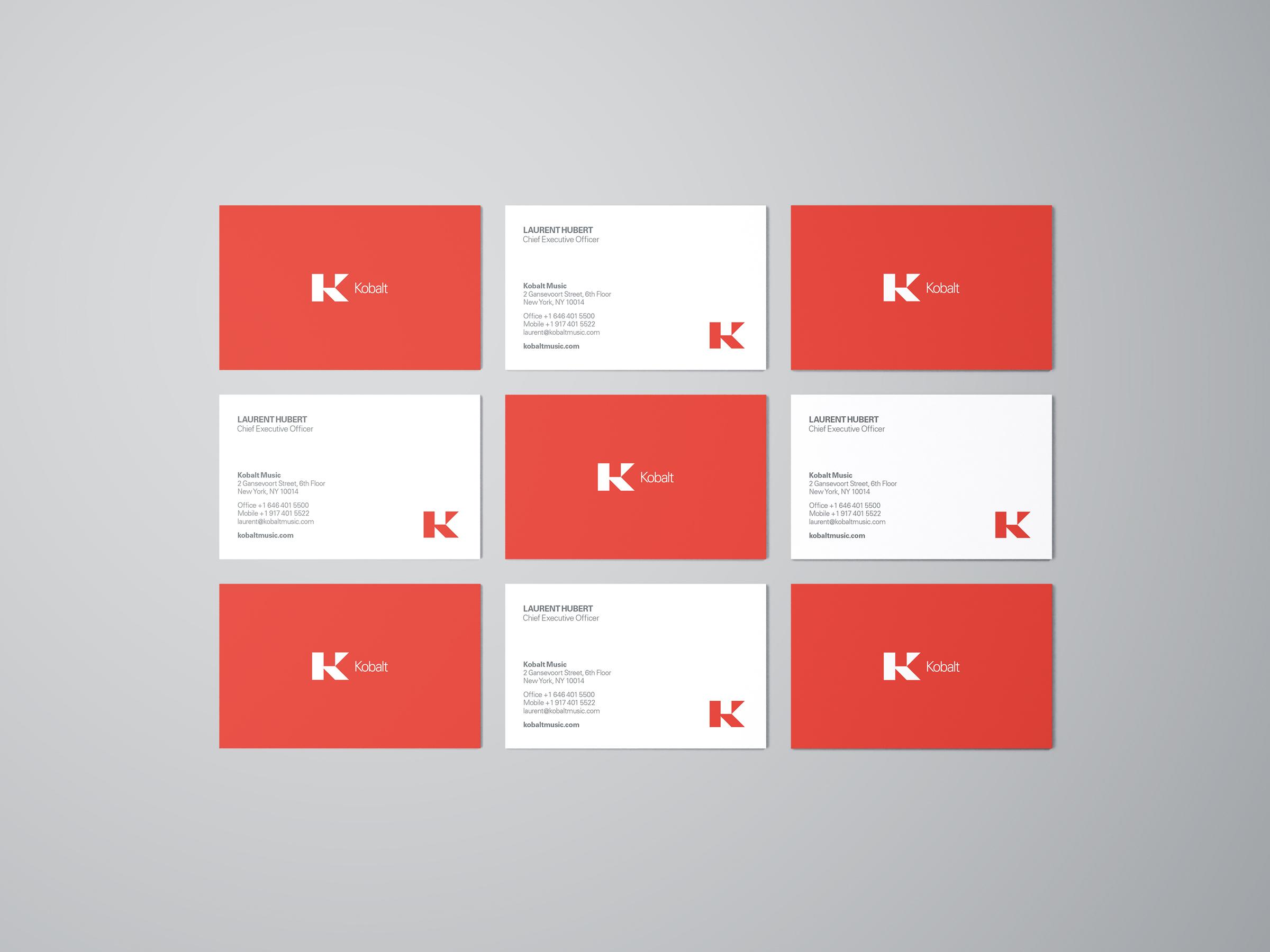 cobalt business cards